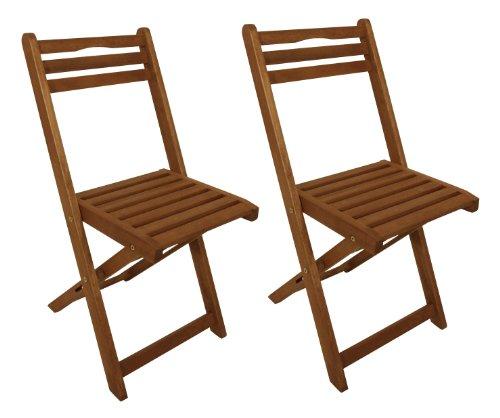 gartenmoebel-einkauf 2X Holz Klappstuhl, Eukalyptus geölt, FSC®-Zertifiziert