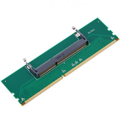 LoveOlvidoD Professioneller DDR3-Laptop SO-DIMM für Desktop-DIMM-Speicher RAM-Anschluss Desktop-Adapter-Karte Speichertester Grün
