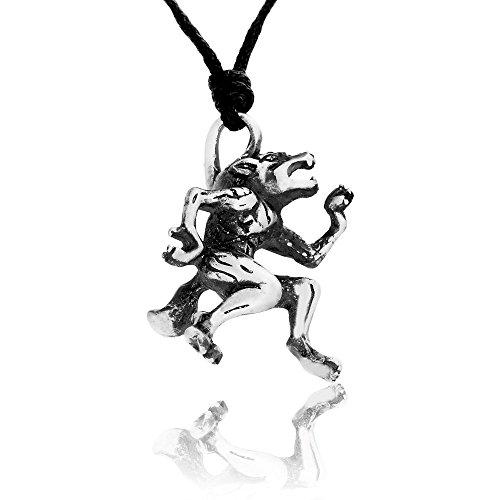 Llords Schmuck Werwolf Wolfsmensch Anhänger Halskette, feinster Zinn Metall (Werwolf Kostüm Beste)