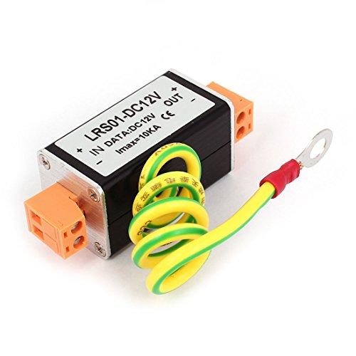 sourcingmap DC 12V Stromversorgung Überspannungsschutz Schutz Ableiter schwarz orange de (Überspannungsschutz Daten)