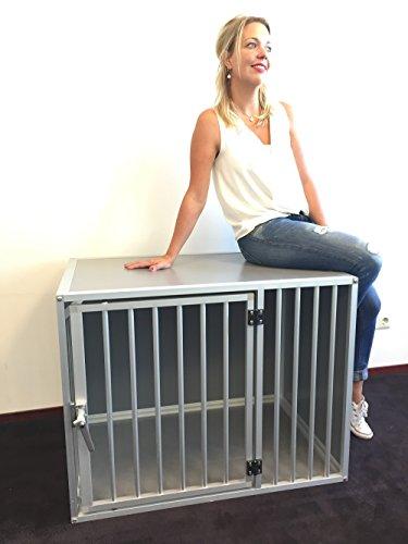 Hundebox M3TL L106cm Aluminium Top Qualität Hundekäfig, hundetransportbox auto Alu und transportbox. Europäischer Qualitätsproduktion.