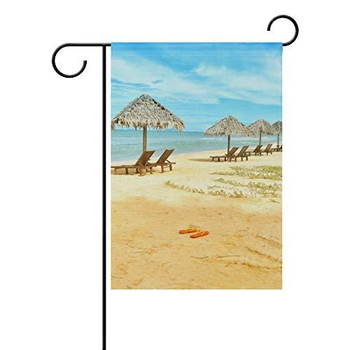 Lennel Gartenhof Heimflagge Banner {Spac} Zoll Strandstühle, Hütte, Dekoration, Hausflagge für Hochzeit, Party, Zuhause, drinnen und draußen, bunt, 28x40(in)