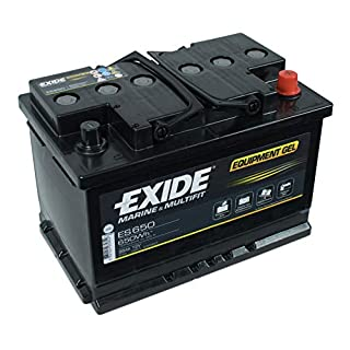 Exide Equipment Gel Batterie ES650 12V 56Ah 650Wh Campingbedarf
