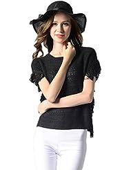 CeRui Mujer Moda Jersey Cortocircuito con Borla Camiseta de Mangaops Blusa