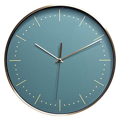 Preisvergleich Produktbild SeSDY Uhr 285mm Moderne Minimalistische Mode Kunst Glas Uhren Kreative Runde Metall Wanduhr Wohnzimmer Schlafzimmer Stumm (Design : A)