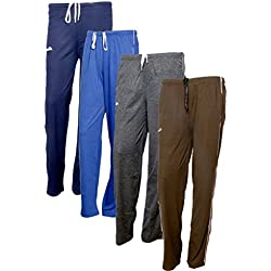 Indistar Women's Premium Cotton Lower with 1 Zipper Pocket and 1 Open Pocket(Pack of 4)_Blue::Grey::Brown::Brown-42
