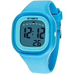 Internet Unisex Kids Silicone LED Light Digital Sport Wrist Watches
