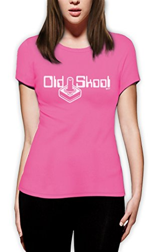 digi school 8 bit joystick retro video game high Quality very comfortable Frauen T-Shirt Rosa