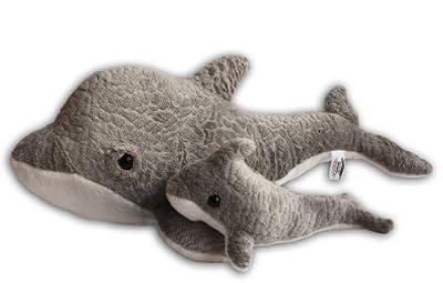 Delfín Grande con Bebé Peluche Gran Calidad 40cm