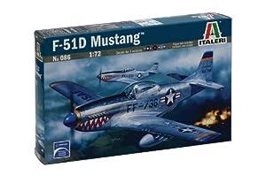 Italeri P - 51D Mustang 1:72 Kit de Montaje Aeronave de ala Fija - Maquetas de aeronaves (1:72, Kit de Montaje, Aeronave de ala Fija, Aeronave Militar, P - 51D, De plástico)