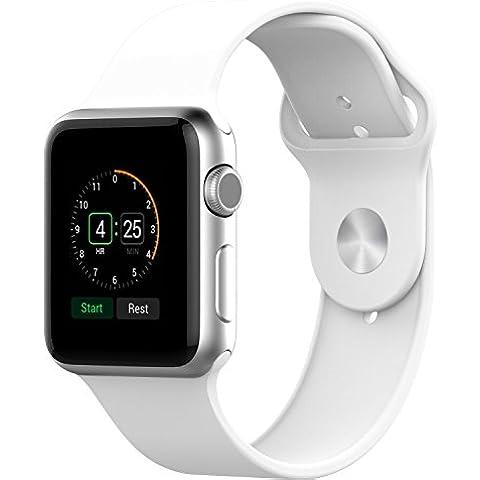 Apple Watch Correa, JETech 42mm Silicona Suave Reemplazo de Banda Sport Band para Apple Watch Todos los Modelos 42mm (Blanco) - 2210