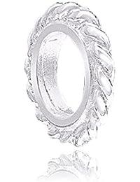 MATERIA filigraner European Beads Spacer Wellen 0,7x9mm - 925 Silber Bead Zwischenelement für Armband #1104