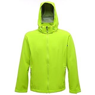 Regatta Men's Arley Jacket Plain Hooded Long Sleeve Jacket, Green (Key Lime/Light Steel), Medium