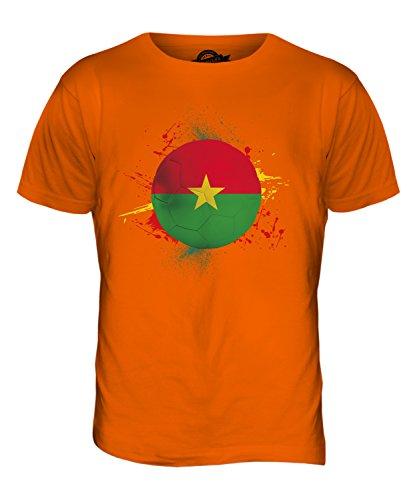 CandyMix Burkina Faso Fußball Herren T Shirt Orange