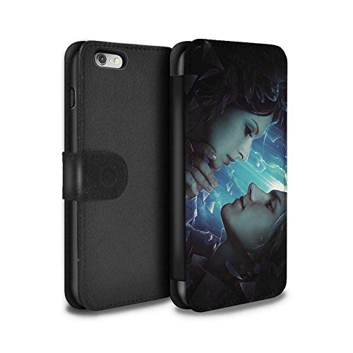Officiel Elena Dudina Coque/Etui/Housse Cuir PU Case/Cover pour Apple iPhone 6S / Coeur flamboyant Design / Art Amour Collection Verre brisé