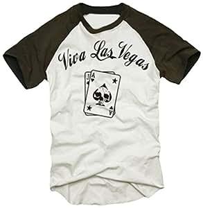 Viva las vegas poker t shirt print front karten baseball for Las vegas shirt printing