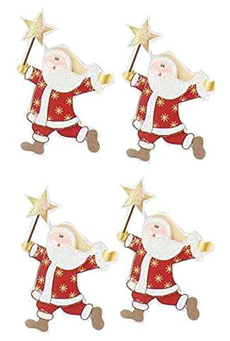Rössler 9002–1065Dancing Santa Claus Aufkleber (6Stück) (Dancing Santa Weihnachten)