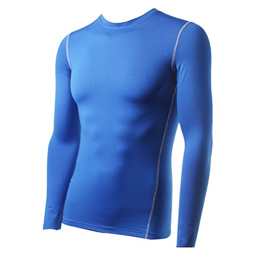 Zhhlaixing Winter Fleece Lined Skin Tights Compression Base Layer Running Long Sleeve Top Mens - Base Layer Fleece Top