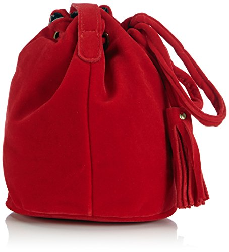Werner Trachten - 05631, Borsa a tracolla Donna Rosso (Rot (Rot 600))