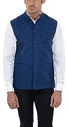 Pickle Men's Wool Waistcoat (NEH-5034 ROYAL BLUE--XXL, Blue, XX-Large)