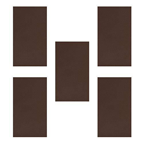 Patch-leder Tasche (HONGXIN-SHOP Aufnäher Selbstklebende Leder Repair Aufkleber Stick Patches für Ledersofa Möbel Autositze und Taschen 5 Stück Braun)
