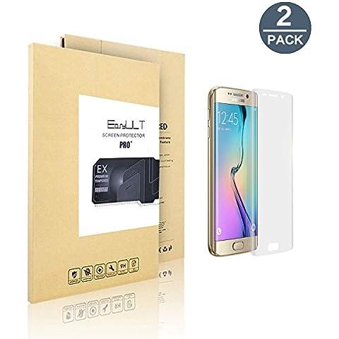 [2 Pack]Samsung Galaxy S7 Edge protector de pantalla,EasyULT 2 Pack Borde a Borde Pantalla Completa Borde Curvo PET HD Film Protector de Pantalla para Samsung Galaxy S7 Edge(3D Full Coverage)