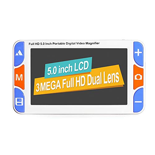 ALRY 5 Zoll Portable Digital Video Lupe Elektronische Lesehilfe IPS-Bildschirm Unterstützung HDMI AV/TV-Ausgang, 3X-48X Zoom 26Color Modes Ausgabe Voice Freeze Etc -