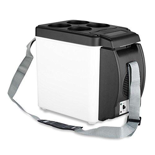 Captiosus Portable Personal Kühlschrank/Kostwärmer, 6L Kapazität, Für Reisen, Strand, Büro Auto Kühlschrank