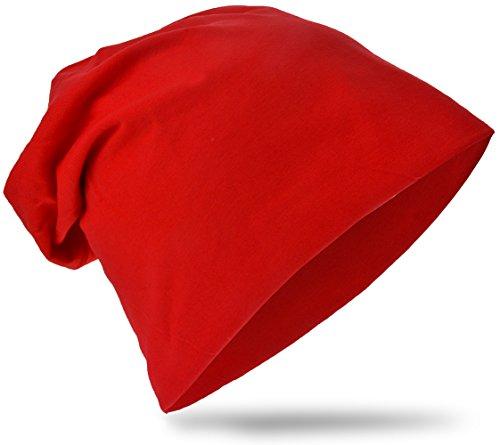 Miobo KBM-Unifarbe-Rot-S - Rote Mütze Baby
