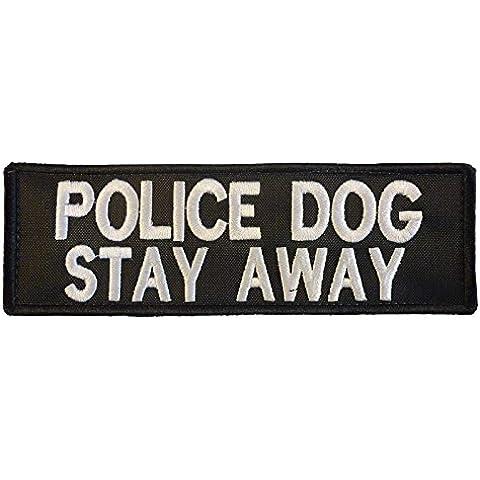 K9 Harness POLICE DOG STAY AWAY K-9 Nylon Velcro Toppa Patch