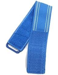 Dcolor Banda Reflectante Hi Viz Clip de Pantalones Correa de Atar Tobillo para Bicicleta - Azul