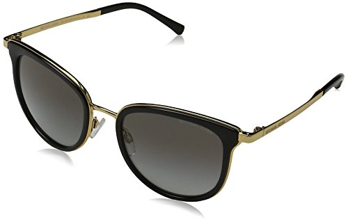 Michael Kors Damen ADRIANNA I 110011 54 Sonnenbrille, Black/Gold/Greygradient