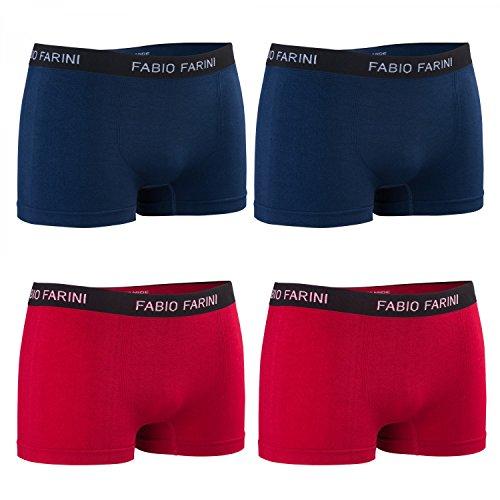 Confezione 4er Fabio Farini Boxershort Intimo Uomo Intimo / Pantaloni set 9