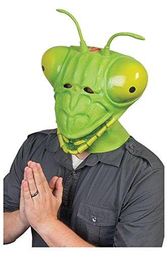 Gottesanbeterin Latex Maske Karneval Kostüm Cosplay Grün