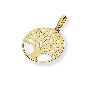 9K Gold Lebensbaum Charm Anhänger