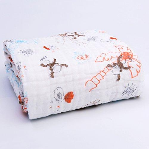 Binztec Baby-Badetuch aus 100% Flauschige Baumwolle-Perfekt als Geschenk für Neugeborene, Säuglinge, Kleinkinder 105x105 cm(Der Wald)