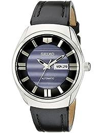 2b70cc85e640f Seiko - SNKN07 - Montre Homme - Automatique - Analogique - Bracelet Cuir  Noir B00MBB0OHU