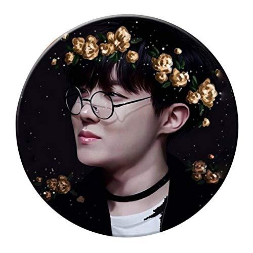 aixingwuzi BTS Bangtan Boys Love Yourself BTS Button Pin Brosche für BTS Army 5,3 cm für Damen und Mädchen - Bts-93-58mm (Birds Brooch Love)