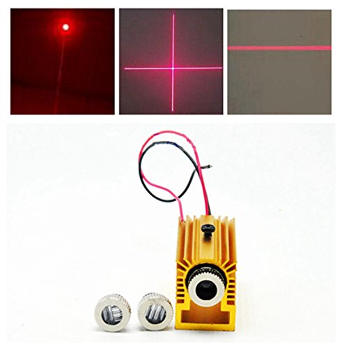 3in1 Dot / Line / Cross 650nm 200mW Red Laser Diodenmodul 5V w 12mm Heatsink / Halter - Laser-diode Mm 12