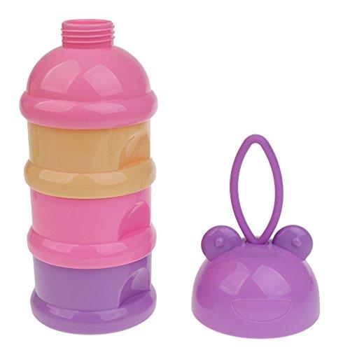 Gazechimp Babybrei Milchpulver Portionierer Babyflaschen Zubehör - Frosch purpurrot