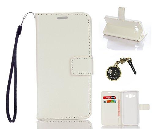 Preisvergleich Produktbild für Galaxy Grand Prime/SM-G530 G531F Hülle, Klappetui Flip Cover Tasche Leder [Kartenfächer] Schutzhülle Lederbrieftasche Executive Design (+Staubstecker ) (1DD)