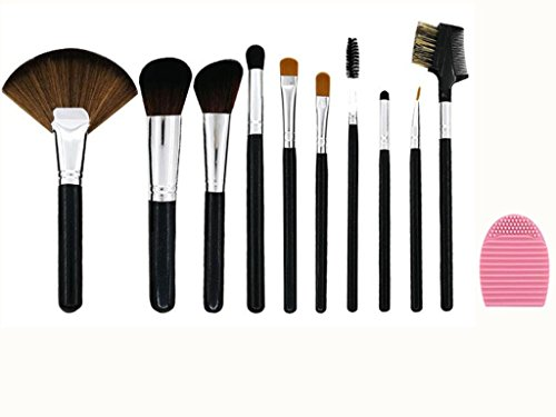 10 Stück Make-up Pinsel Set, Powder Foundation Blushes Lidschatten Blending Kontur Pinsel Geschenk Set