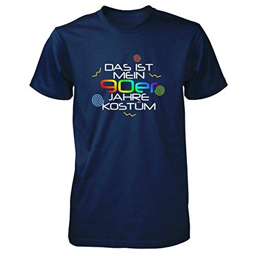 Shirtfun24 Herren DAS IST MEIN 90er JAHRE KOSTÜM Karneval Fasching T-Shirt, navy, XL (90er-jahre-kostüme)