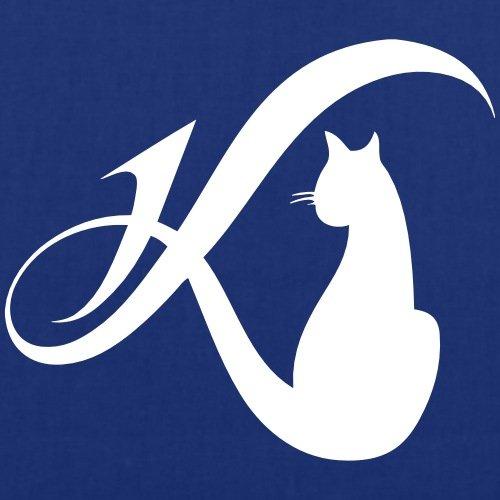 Spreadshirt Daniela Katzenberger Logo Stoffbeutel Royalblau