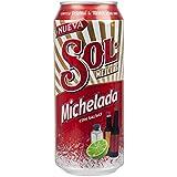 Cerveza Sol Michelada - Cerveza mezclada con Salsas - 3,5% vol, lata 473ml