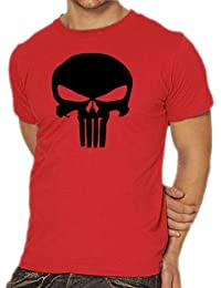 Punisher  - Camiseta, tamaño S, color rojo