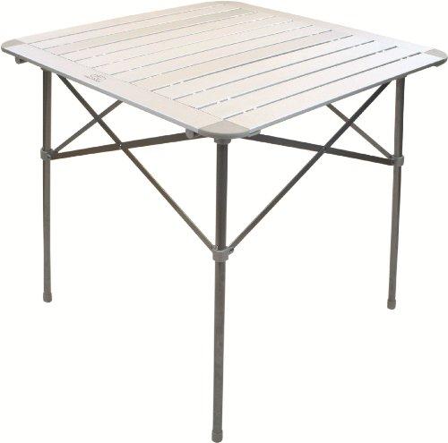 Highlander Tavolino pieghevole a doghe, alluminio satinato