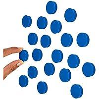 Imanes para pizarra blanca, 25 mm, 20 unidades, color azul