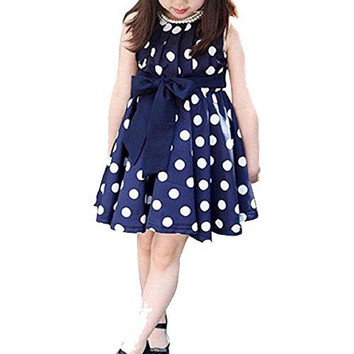 Zolimx Kids Kinder Kleidung Tupfen Mädchen Chiffon Sommerkleid Kleid (XXL, (Kostüme 2 Mädchen Stück School)