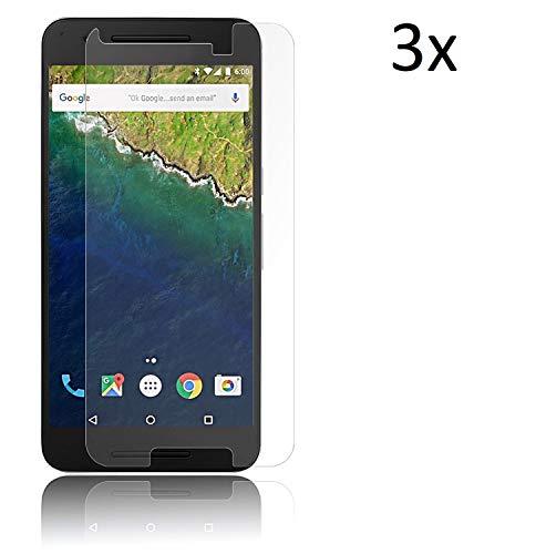 Cardana | 3X bruchsicheres Panzerglas für Google Nexus 6 / 6X | Schutzfolie aus 9H Echt Glas